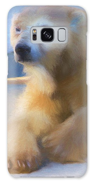 Polar Bear In Chalk Galaxy Case