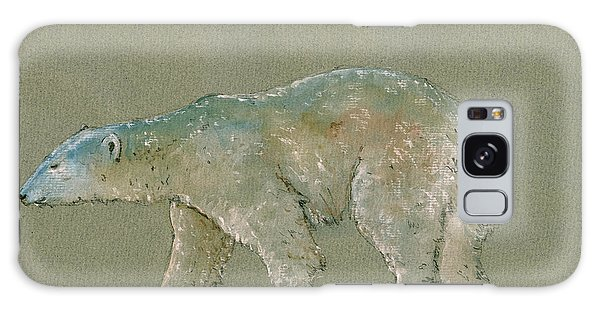 Polar Bear Original Watercolor Painting Art Galaxy Case