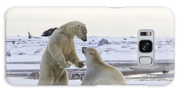 Polar Bear Play-fighting Galaxy Case