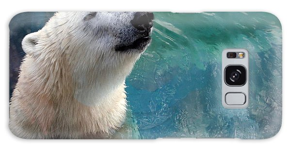 Polar Bear Up Close Galaxy Case by Laurel Talabere