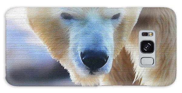Polar Bear Wooden Texture Galaxy Case by Dan Sproul