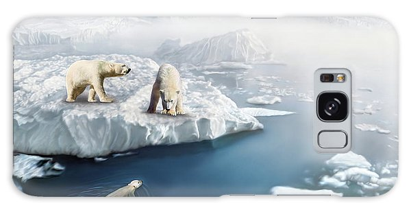 Polar Bears Galaxy Case by Thanh Thuy Nguyen