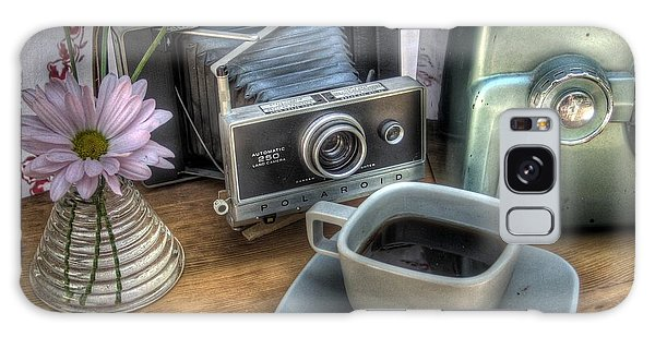Vintage Camera Galaxy Case - Polaroid Perceptions by Jane Linders