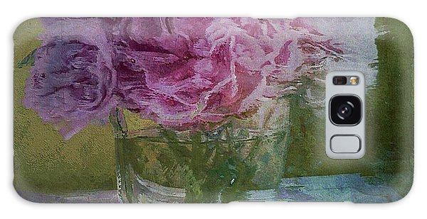 Polite Peonies Galaxy Case by Alexis Rotella