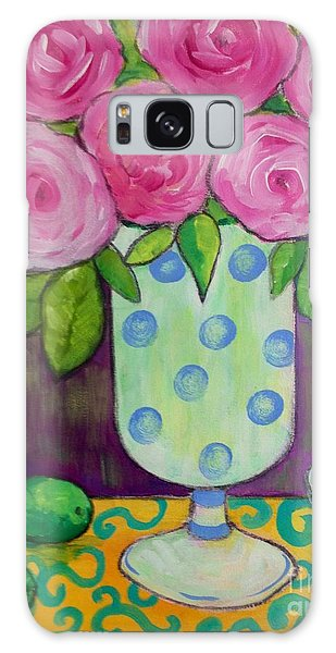 Polka-dot Vase Galaxy Case