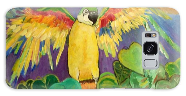 Polly Wants More Than A Cracker Galaxy Case by Rosemary Aubut