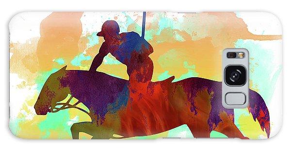 Sportsman Galaxy Case - Polo Player by Elena Kosvincheva