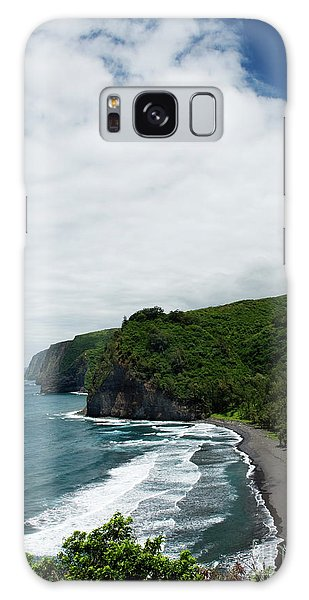 Pololu Valley Black Sand Beach Galaxy Case