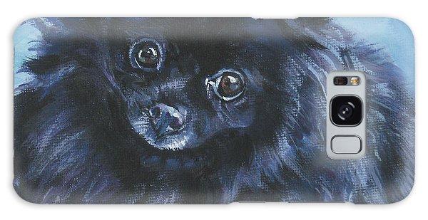 Pomeranian Black Galaxy Case