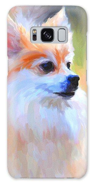 Pomeranian Portrait Galaxy Case