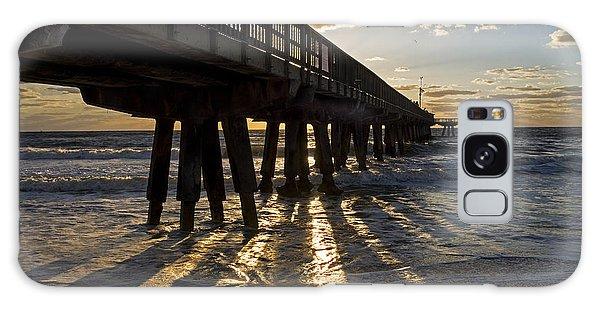 Pompano Beach Fishing Pier At Sunrise Florida Sunrays Galaxy Case