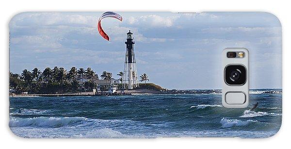 Pompano Beach Kiteboarder Hillsboro Lighthouse Galaxy Case