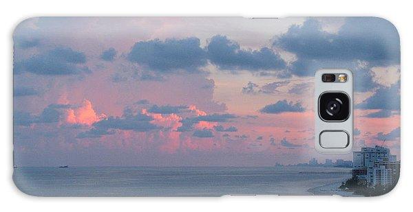 Pompano Pier At Sunset Galaxy Case