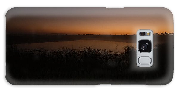 Pond And Cattails At Sunrise Galaxy Case