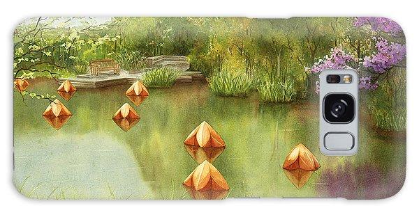 Pond At Olbrich Botanical Garden Galaxy Case