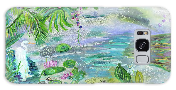 Galaxy Case - Pond In The Morning by Bridget Weber