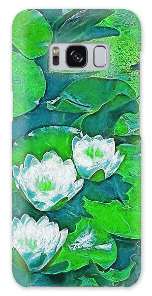 Pond Lily 2 Galaxy Case by Pamela Cooper