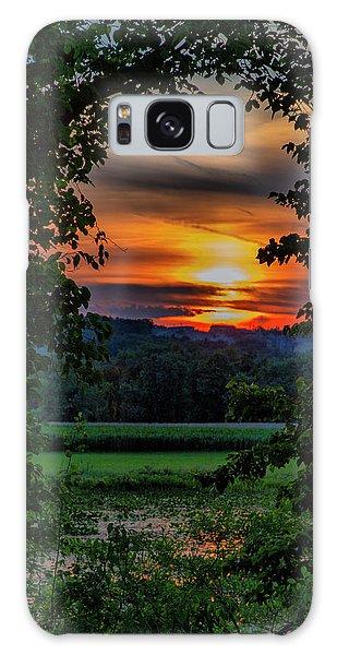 Pond Sunset  Galaxy Case
