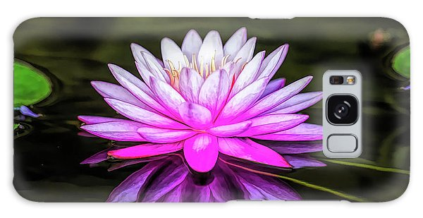 Pond Water Lily Galaxy Case
