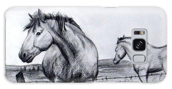 Ponder Texas Horses Galaxy Case