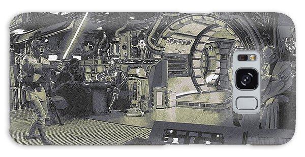 Pondering Chewie's Next Move Galaxy Case by Kurt Ramschissel