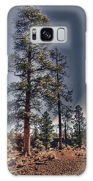 Ponderosa Pines At The Bonito Lava Flow Galaxy Case