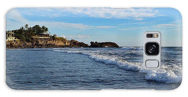 Poneloya Beach Before Sunset Galaxy Case