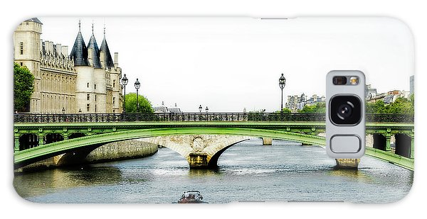 Pont Au Change Over The Seine River In Paris Galaxy Case