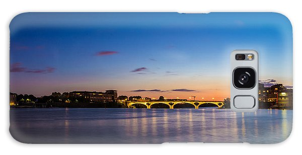 Pont Des Catalans And Garonne River At Night Galaxy Case by Semmick Photo