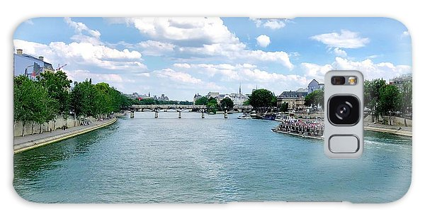 River Seine At Pont Du Carrousel Galaxy Case