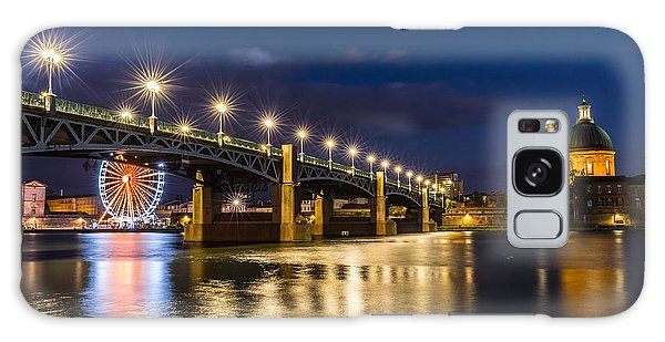 Pont Saint-pierre With Street Lanterns At Night Galaxy Case by Semmick Photo