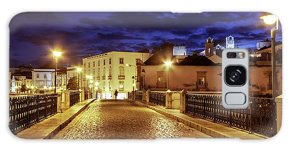 Galaxy Case featuring the photograph Ponte Romana At Blue Hour / Tavira, Portugal by Barry O Carroll