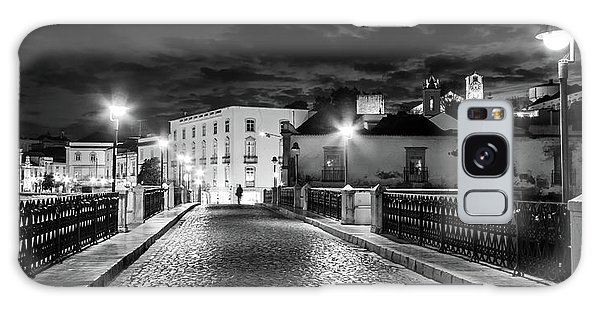 Galaxy Case featuring the photograph Ponte Romana At Night - Tavira, Portugal by Barry O Carroll