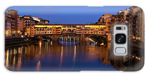 Ponte Vecchio Dusk  Galaxy Case by Harry Spitz