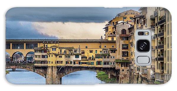 Ponte Vecchio E Gabbiani Galaxy Case by Sonny Marcyan