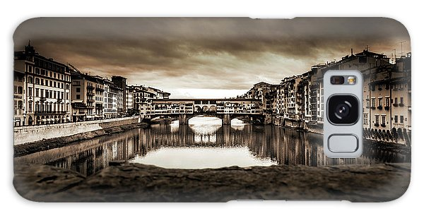 Ponte Vecchio In Sepia Galaxy Case by Sonny Marcyan