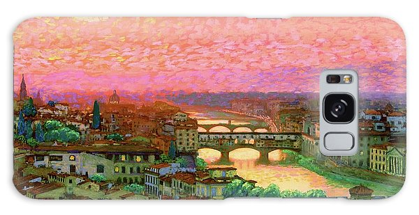 Impressionist Galaxy Case - Ponte Vecchio Sunset Florence by Jane Small