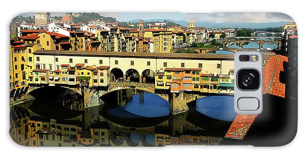 Ponte Vecchio View  Galaxy Case by Harry Spitz