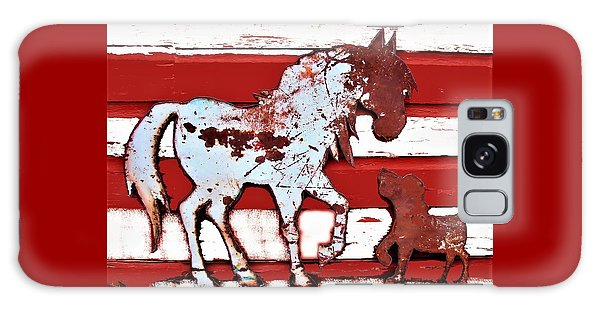 Pony And Pup Galaxy Case by Larry Campbell