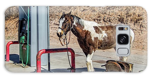 Galaxy Case featuring the photograph Pony At The Pump by Britt Runyon