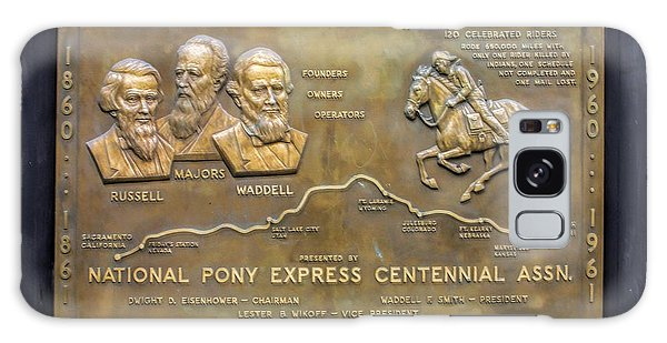 Pony Express Brass Plaque Galaxy Case