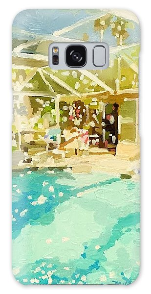 Pool And Screened Pool House Galaxy Case