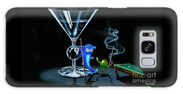 Sharks Galaxy Case - Pool Shark by Michael Godard