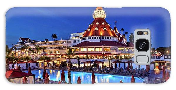 Poolside At The Hotel Del Coronado  Galaxy Case by Sam Antonio Photography