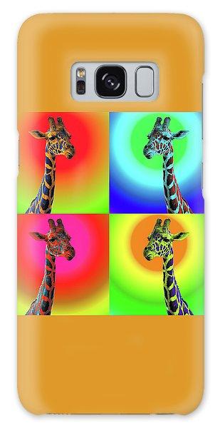Pop Art Giraffe Galaxy Case