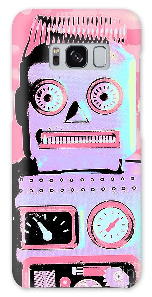 Technology Galaxy Case - Pop Art Poster Robot by Jorgo Photography - Wall Art Gallery