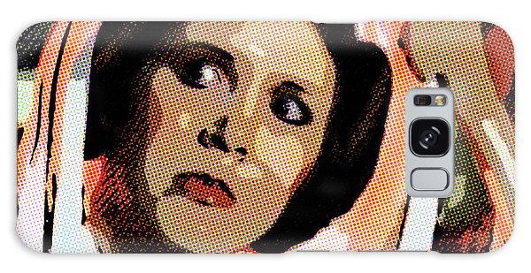 Galaxy Case featuring the digital art Pop Art Princess Leia Organa by SR Green
