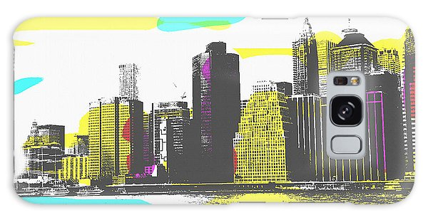 Galaxy Case featuring the digital art Pop City Skyline by Shelli Fitzpatrick