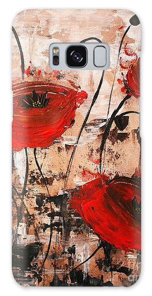 Pop Goes The Poppies Galaxy Case