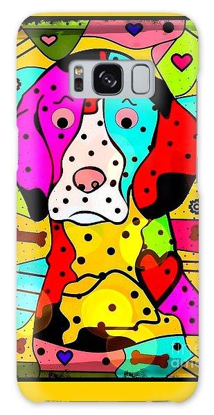 Popart Dog By Nico Bielow Galaxy Case by Nico Bielow